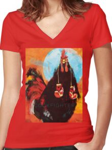 Cock Fighter Women's Fitted V-Neck T-Shirt