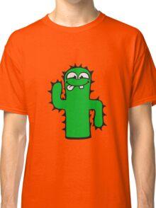 face funny comic cartoon cactus natural sweet cute small Classic T-Shirt