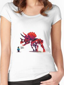 Play Dead Pet Dinosaur Women's Fitted Scoop T-Shirt
