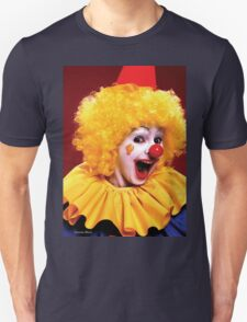 Head shot of yellow haired Clown smiling T-Shirt