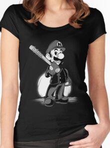 LET THE SMASH BEGIN. Women's Fitted Scoop T-Shirt