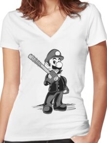 LET THE SMASH BEGIN. Women's Fitted V-Neck T-Shirt