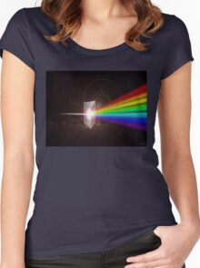 Light Prism Color Spectrum Women's Fitted Scoop T-Shirt