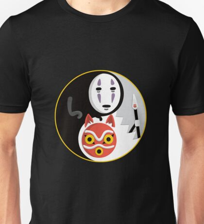 Flat ghibli spirits Unisex T-Shirt