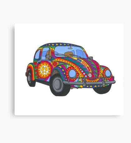 Psychedelic VW Beetle Canvas Print