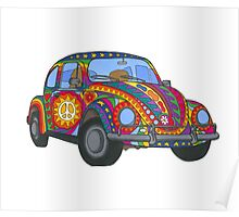 Psychedelic VW Beetle Poster
