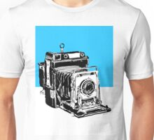 Vintage Graphix Camera in Electric Blue Unisex T-Shirt