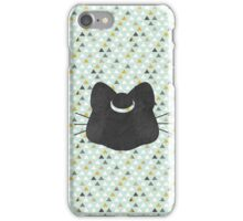 Moon Kitten Graphic (Black) iPhone Case/Skin