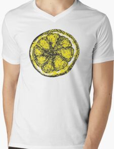 Stone Roses Lemon Tshirt (Highest Quality) Mens V-Neck T-Shirt