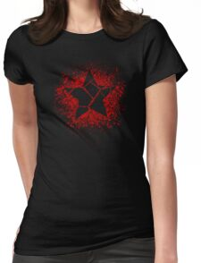 Bleeding Through The Steel Womens Fitted T-Shirt
