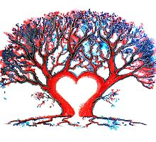 Loveheart Tree by Linda Callaghan
