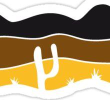 lines pattern desert evening night sunset sunrise kakten cactus hot hot Sticker