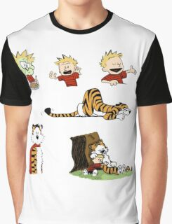 calvin_and_hobbes_all Graphic T-Shirt