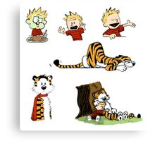 calvin_and_hobbes_all Canvas Print