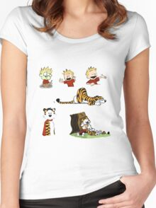 calvin_and_hobbes_all Women's Fitted Scoop T-Shirt