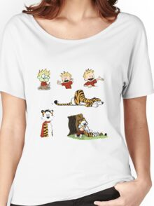 calvin_and_hobbes_all Women's Relaxed Fit T-Shirt