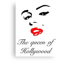 The Queen Of Hollywood  Canvas Print