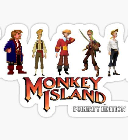 Monkey Island Guybrush - Puberty Edition  Sticker
