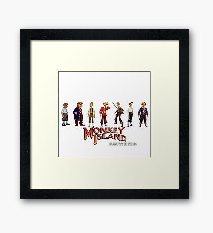 Monkey Island Guybrush - Puberty Edition  Framed Print