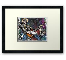 Country Rock Guitar Framed Print