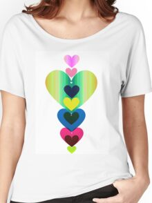 Stack of Hearts Women's Relaxed Fit T-Shirt