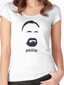 Philip K Dick (Hirsute History) Women's Fitted Scoop T-Shirt
