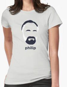 Philip K Dick (Hirsute History) Womens Fitted T-Shirt