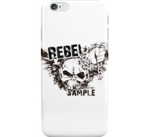 rebel sample text iPhone Case/Skin