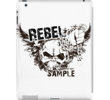 rebel sample text iPad Case/Skin