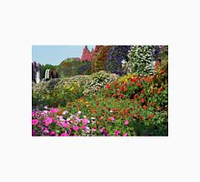 Beautiful colorful park with many flower arrangements. Unisex T-Shirt