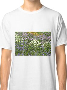 Many small flowers in the garden. Classic T-Shirt