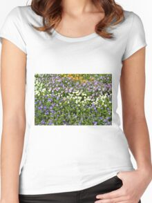 Many small flowers in the garden. Women's Fitted Scoop T-Shirt