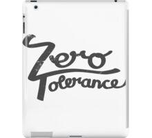 Zero Tolerance hand lettering iPad Case/Skin