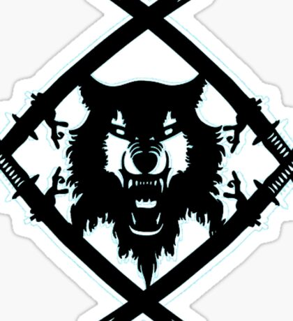 Black HollowSquad Logo With White Edges Sticker