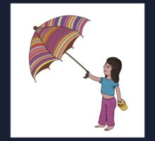 Girl with umbrella Kids Tee