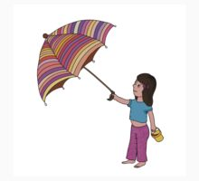 Girl with umbrella Baby Tee