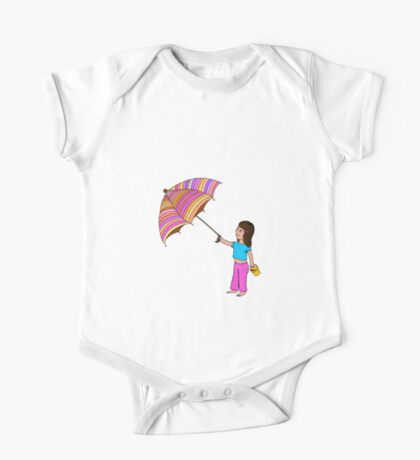 Girl with umbrella One Piece - Short Sleeve