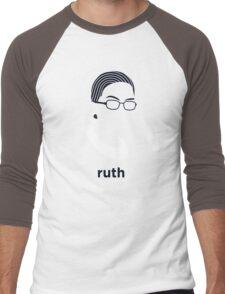 Ruth Bader Ginsburg (Hirsute History) Men's Baseball ¾ T-Shirt