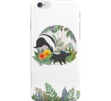 Skunk in the forest iPhone Case/Skin