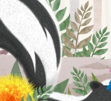 Skunk in the forest Sticker