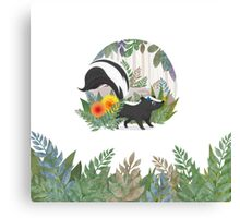 Skunk in the forest Canvas Print