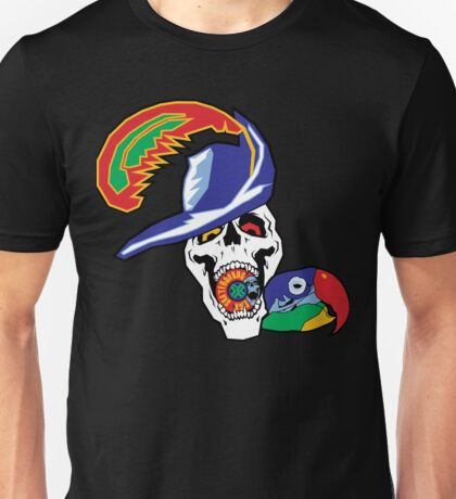 Pirate and Parrot - Sick Skateboards Unisex T-Shirt