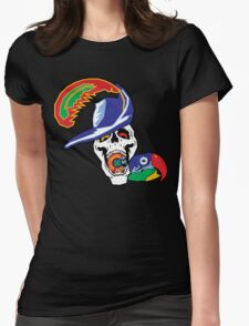 Pirate and Parrot - Sick Skateboards Womens Fitted T-Shirt