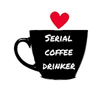 Serial Coffee Drinker Photographic Print
