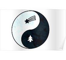 Gravity Falls Yin Yang Poster