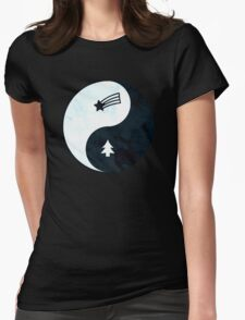 Gravity Falls Yin Yang Womens Fitted T-Shirt