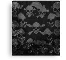 Black Grunge Skulls  Canvas Print