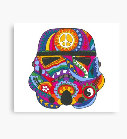 Psychedelic Storm Mask Canvas Print
