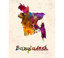Bangladesh in watercolor Photographic Print