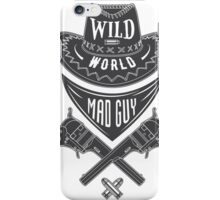 Mad guy cowboy emblem iPhone Case/Skin